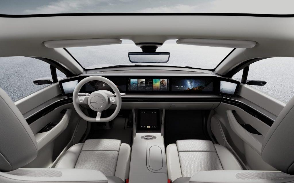 Interior del Sony Vision-S