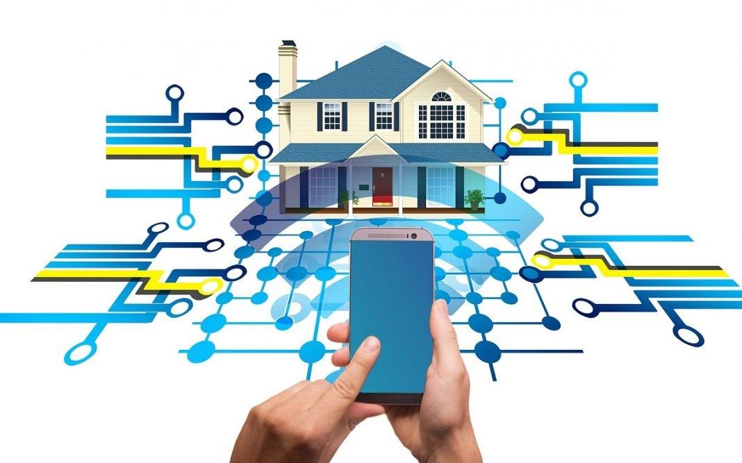 Ilustración que refleja cómo controlar una casa desde el móvil