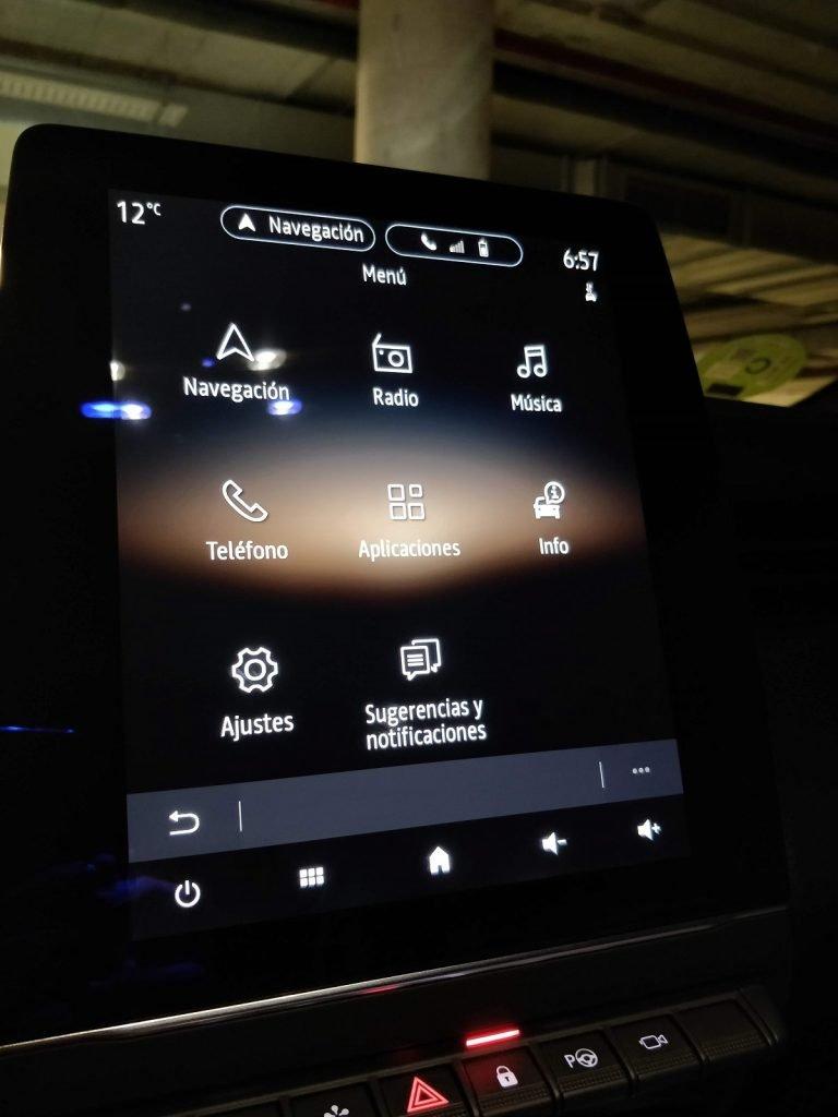 Pantallas del sistema multimedia del Renault Clio