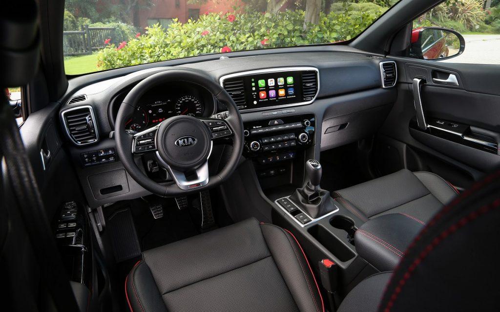 Imagen interior del Kia Sportage