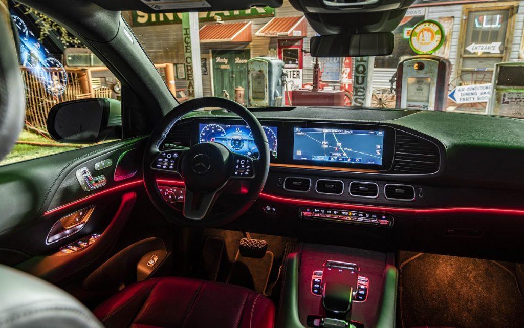 Imagen del interior de un Mercedes GLE