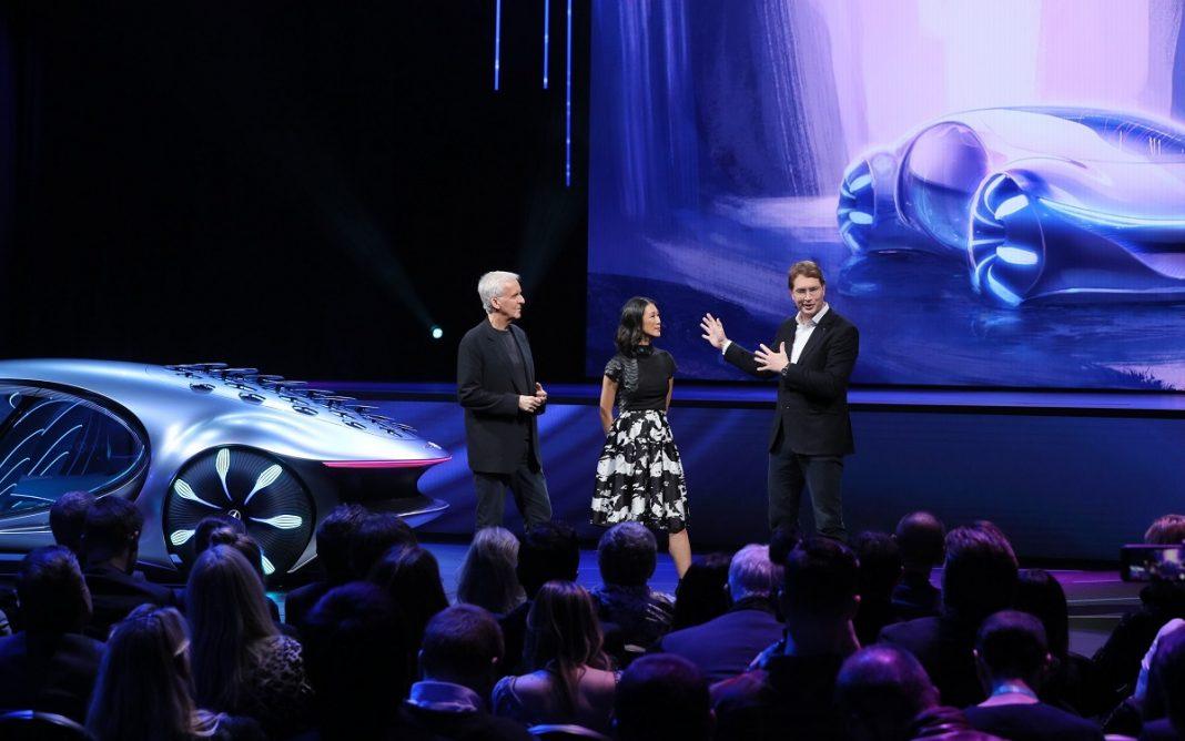 Imagen de la presentación del grupo Daimler en el evento del CES 2020