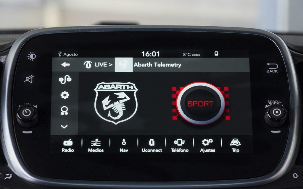 App Abarth Telemetry del Abarth 595 Competizione