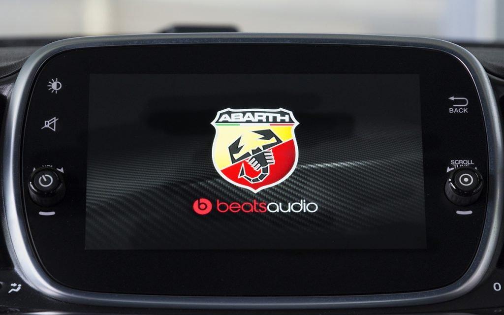 Logo Beats Audio en el Abarth 595 Competizione