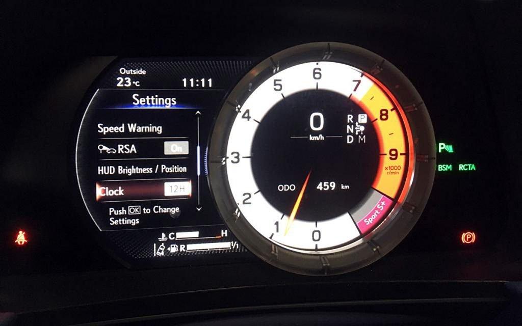Cuadro de instrumentos deportivo del Lexus LC 500 Cabrio