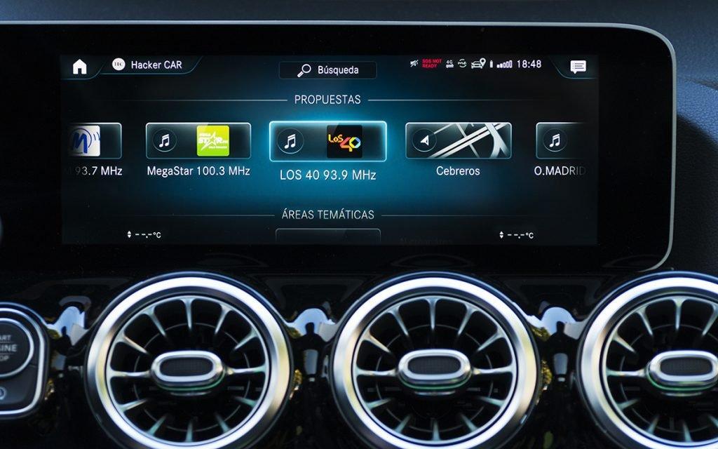 Menú de sugerencias MBUX del Mercedes-Benz B200 D