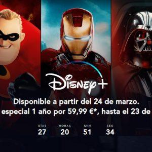 Imagen de la web de la nueva plataforma Disney +