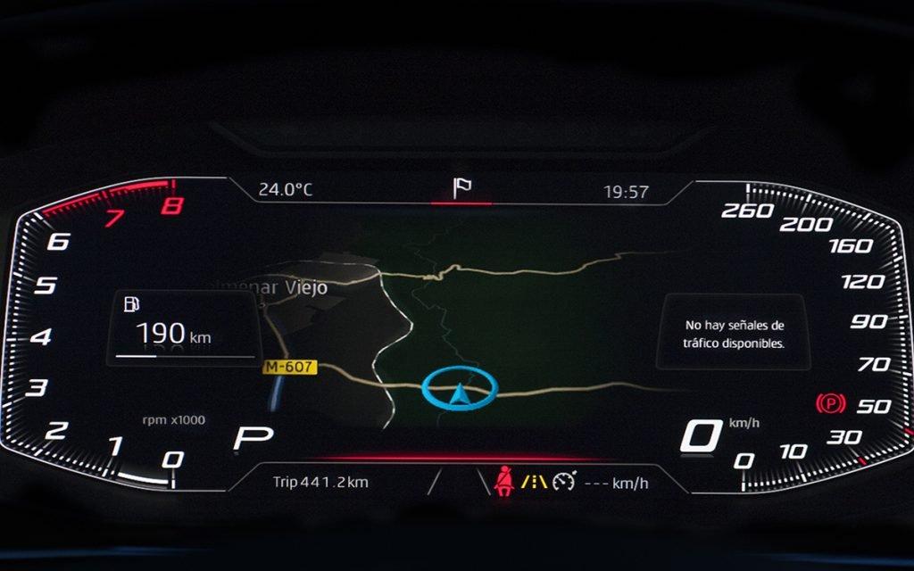 Virtual Cockpit alternativo del Seat Tarraco