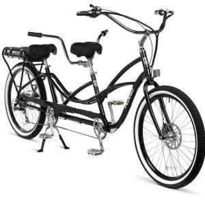 Imagen de una bicicleta tandem de la marca Pedego