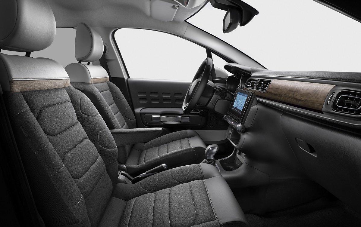 Imagen del interior de un Citroën C3 2020