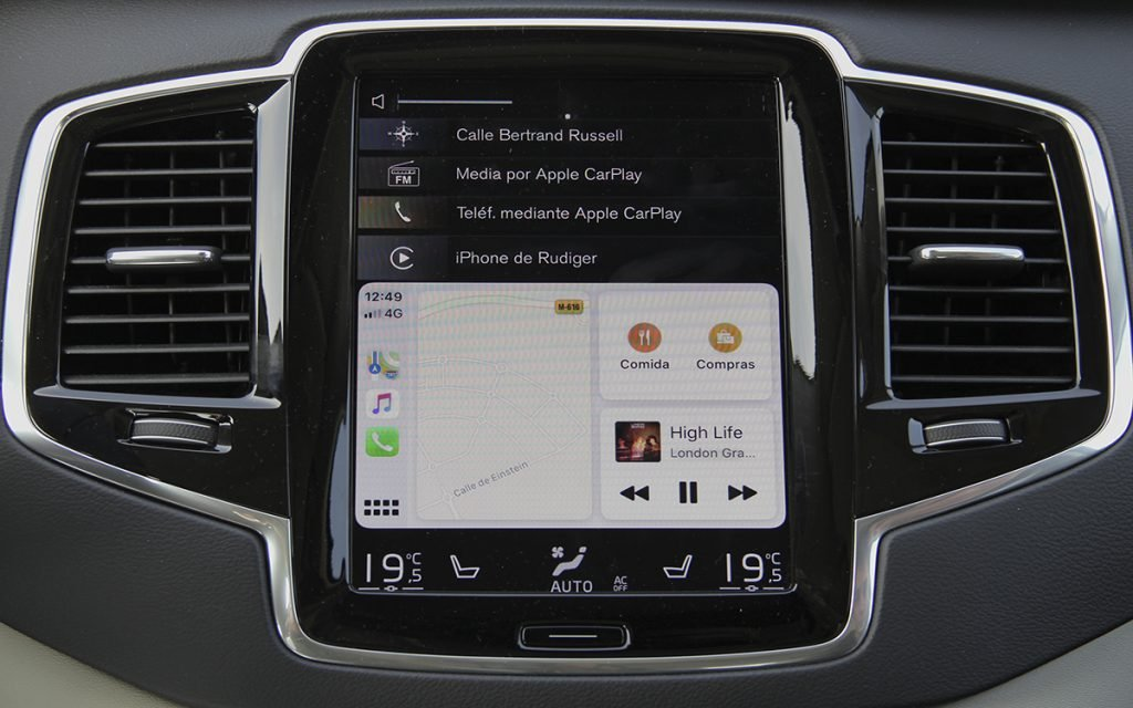 Supermenú de Apple CarPlay