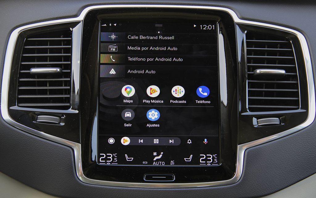 Menú principal en Android Auto
