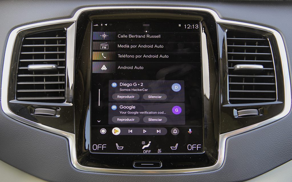 Notificaciones en Android Auto