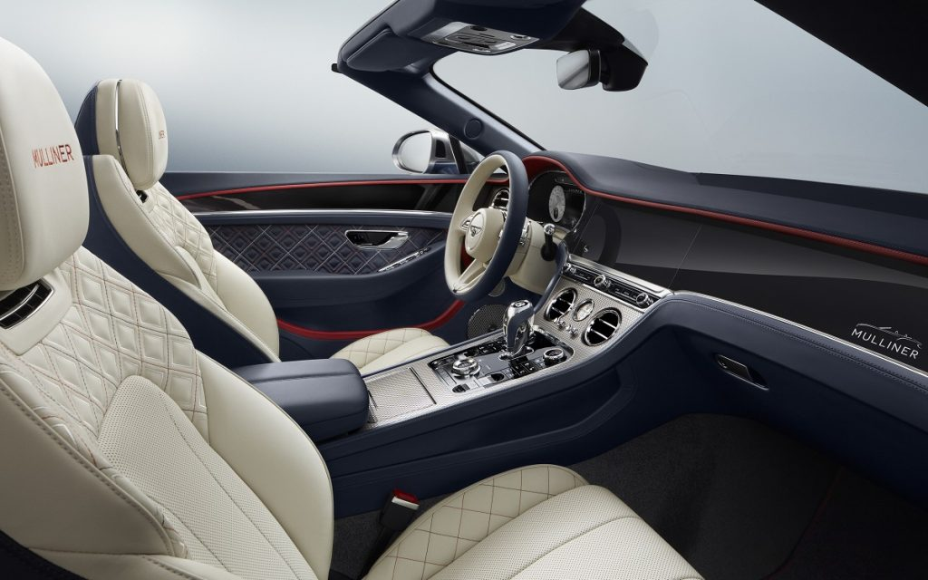 Interior del Bentley Continental GT Mulliner Convertible