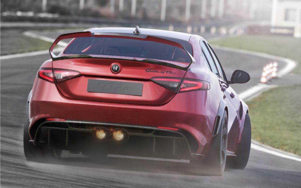 Imagen tres cuartos trasero del Alfa Giulia GTA