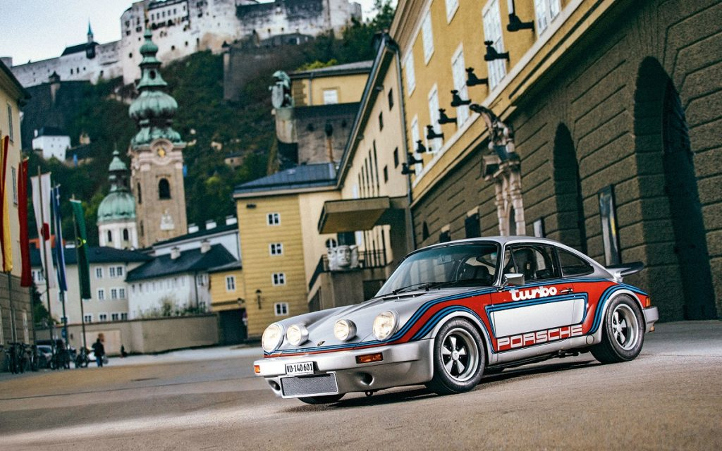Imagen frontal del Porsche 911 de Karajan