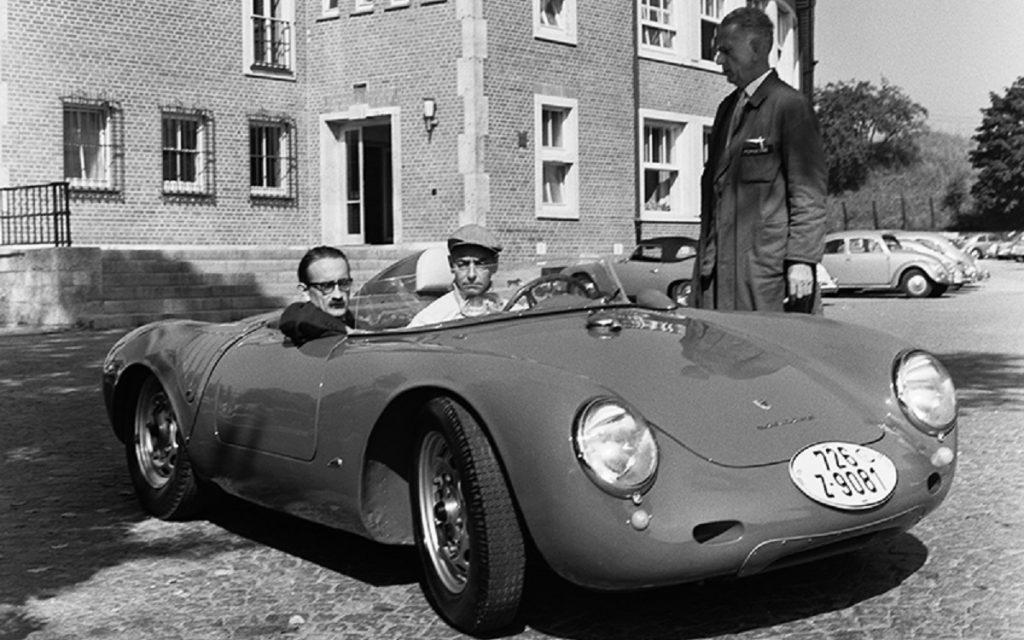 Karajan con su Porsche 550 A Spyder
