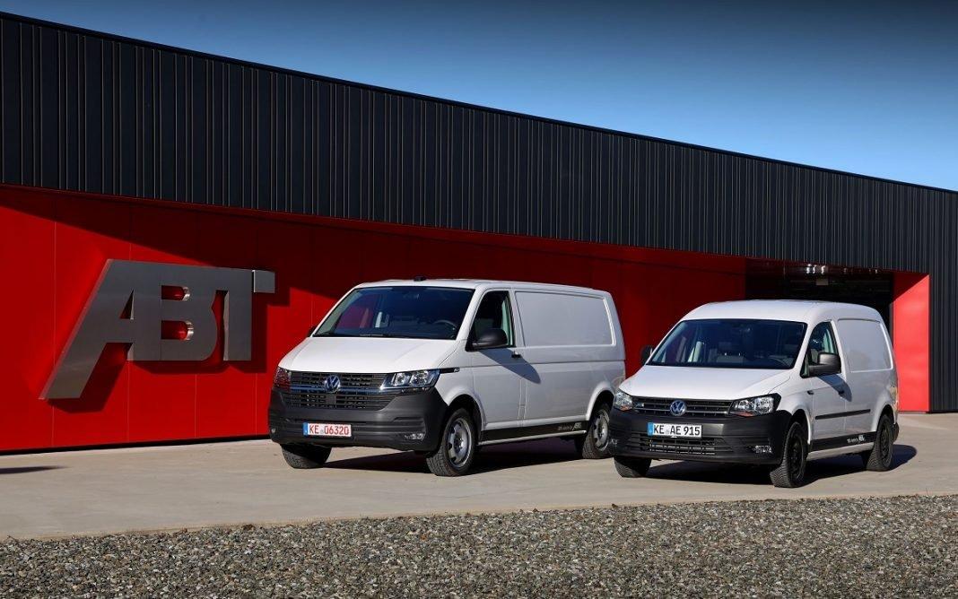 Imagen tres cuartos delantero de los nuevos Caddy y Transporter eléctricos