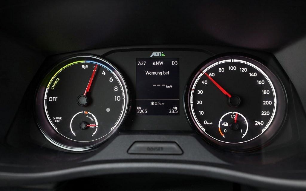IMagen del cuadro de instrumentos del VW Caddy