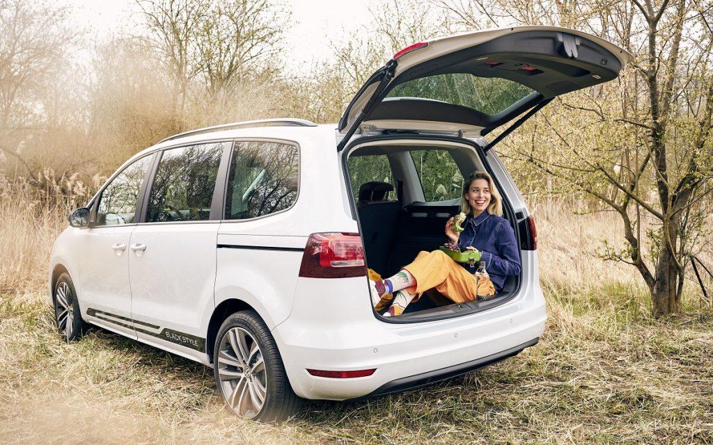 Imagen posterior de la Volkswagen Sharan