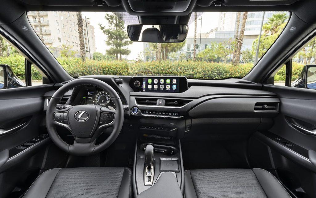 Imagen del interior del Lexus UX 300e