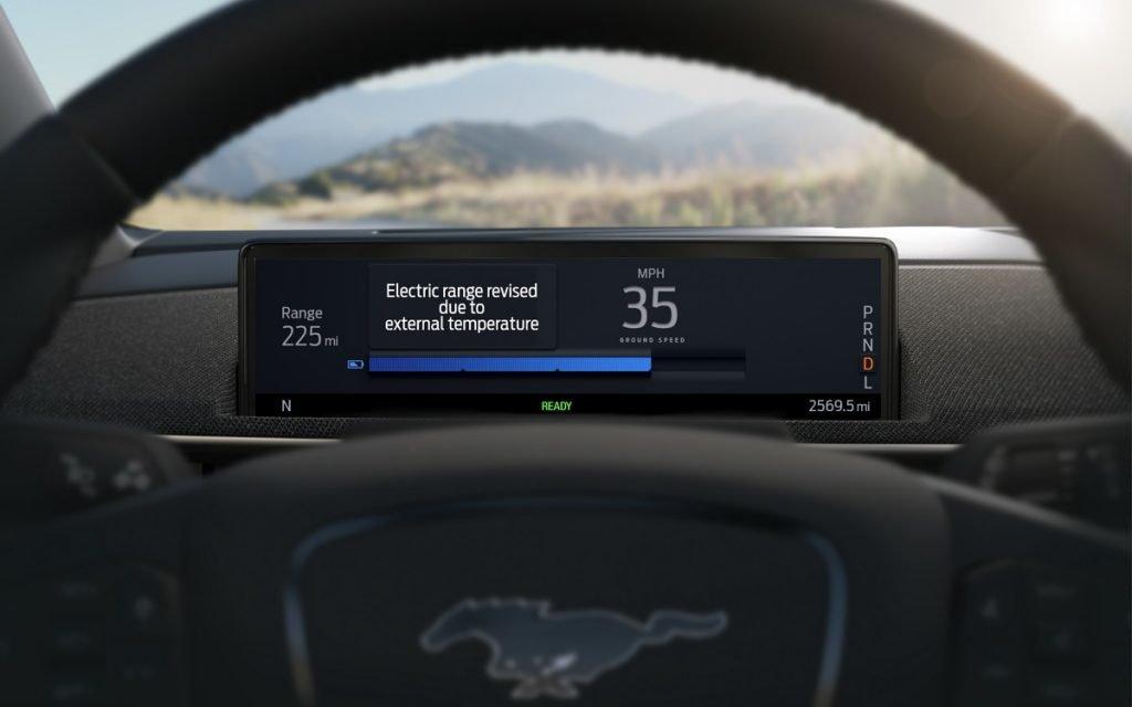 Detalle de la Autonomía Inteligente en el Ford Mustang Mach-E