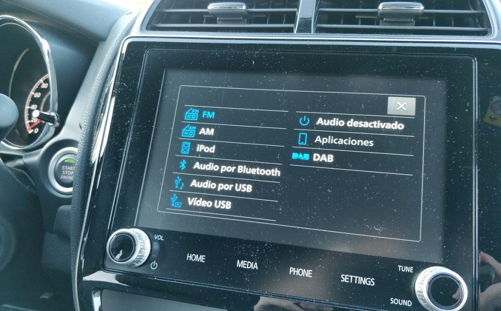 Imagen sistema multimedia del Mitsubishi ASX 1