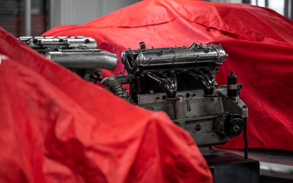 Detalle de un motor en el Museo Alfa Romeo