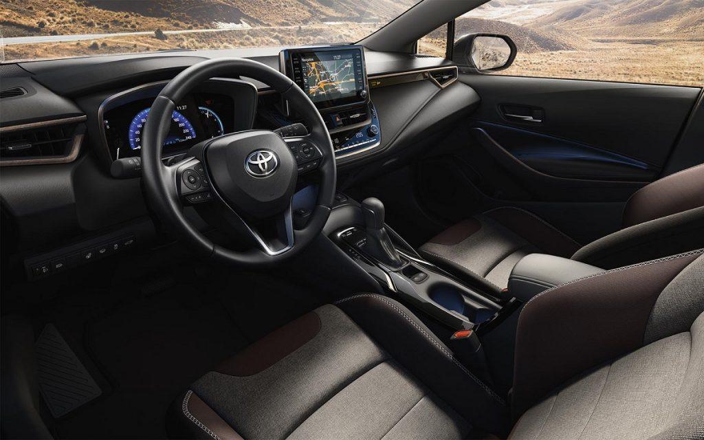 Interior del Toyota Corolla Trek