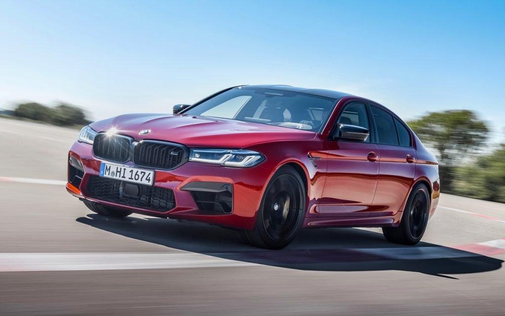 Imagen tres cuartos delantero del BMW M5 2020