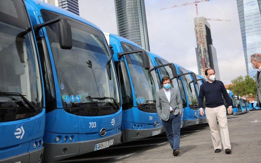 Imagen de los Autobuses adquiridos a BYD por el Ayuntamiento de Madrid