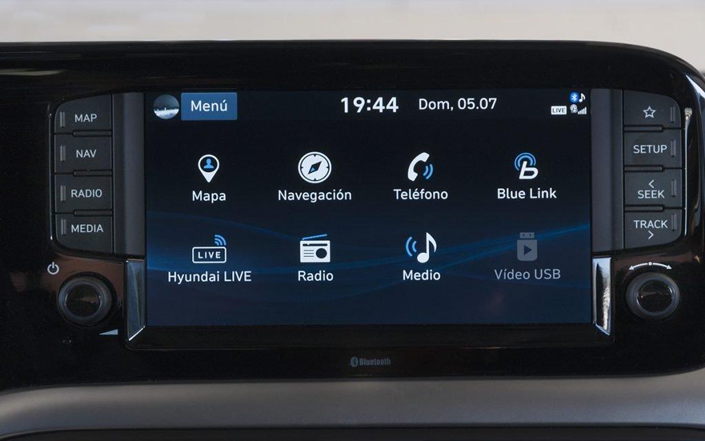 Menú de funciones del Hyundai i10
