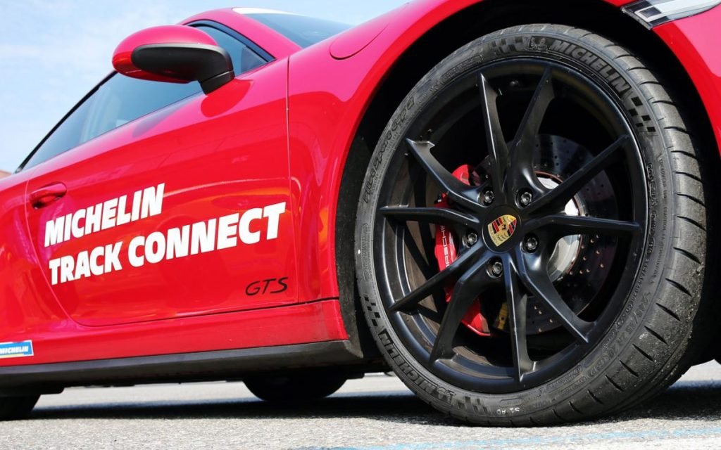 Michelin Track Connect Porsche 011 GTS detalle llanta