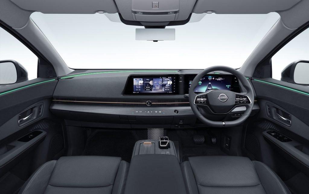 Imagen interior del Nissan Ariya