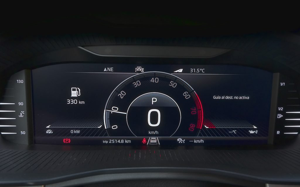 Virtual Cockpit del Skoda Kamiq