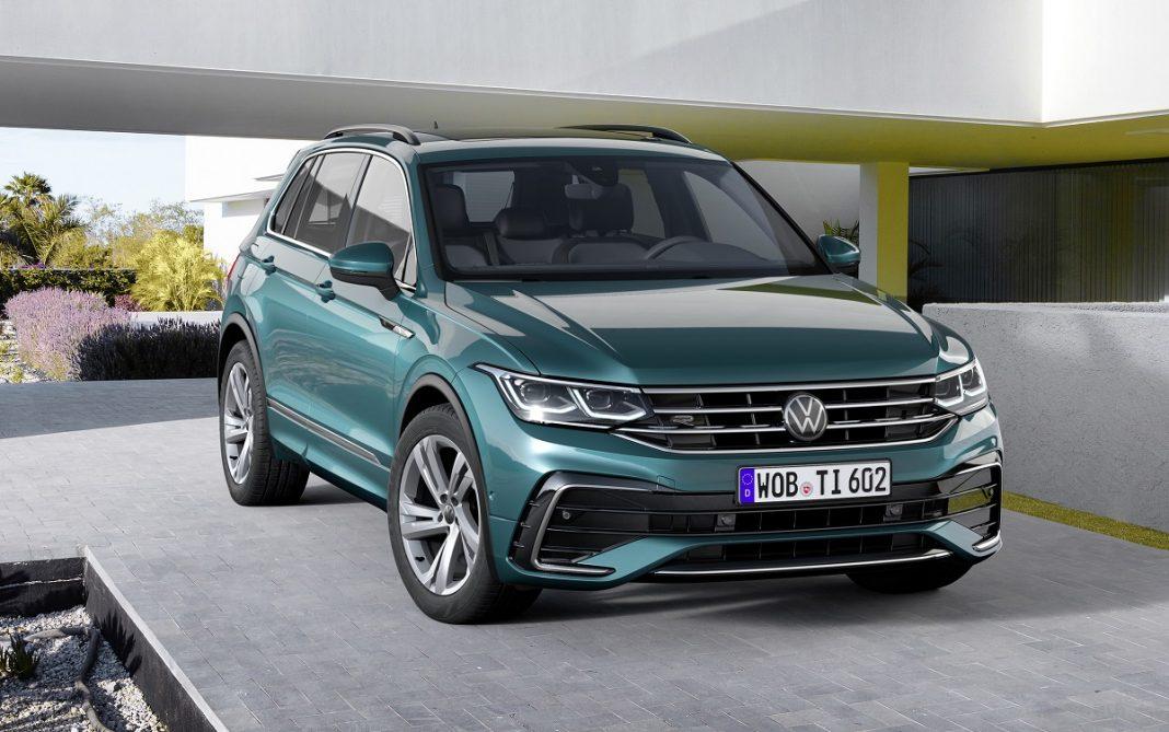 Imagen tres cuartos delantero del nuevo VW Tiguan 2021