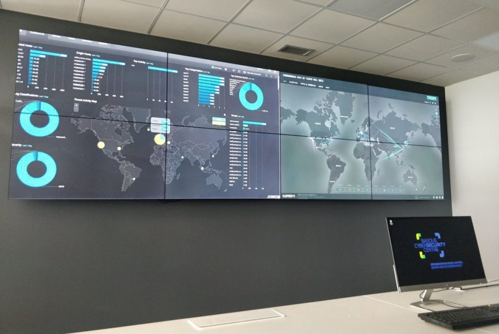 Ciberseguridad Euskadi: imagen del SOC del Centro Vasco de Ciberseguridad