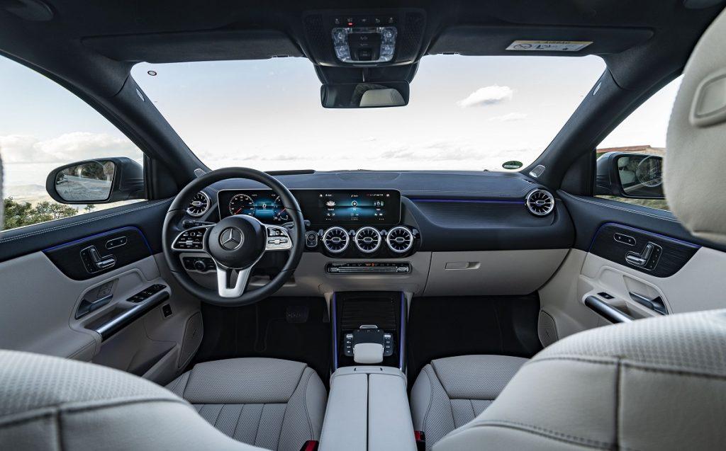 Imagen interior de un Mercedes GLA