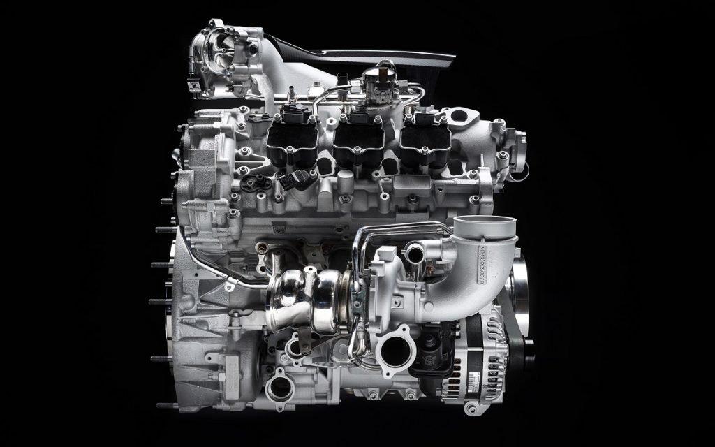 Imagen lateral de Nettuno, el Motor de Maserati