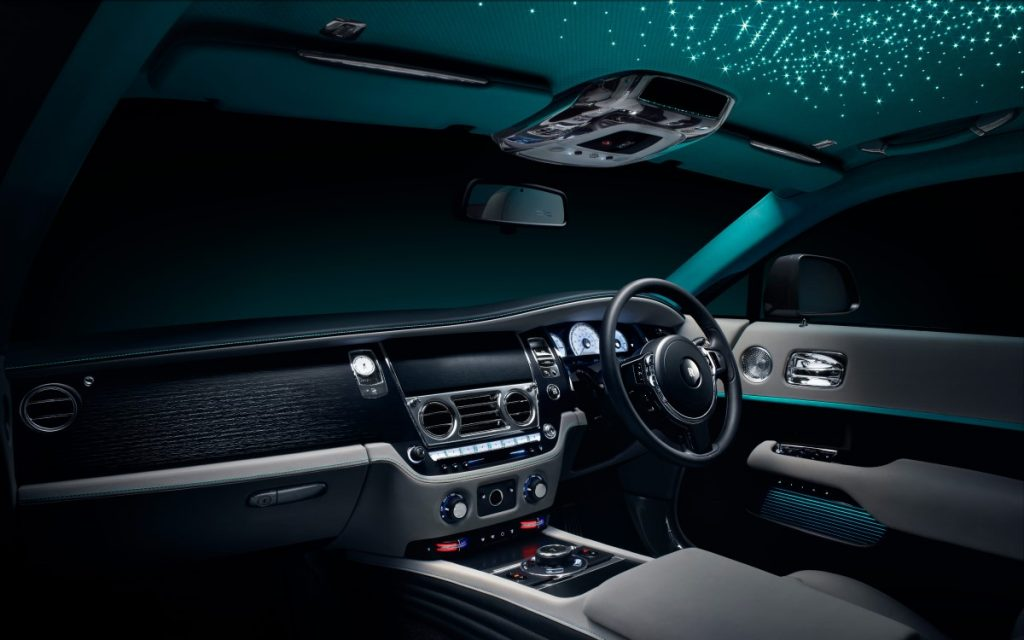 Interior del Rolls-Royce Wraith Kryptos