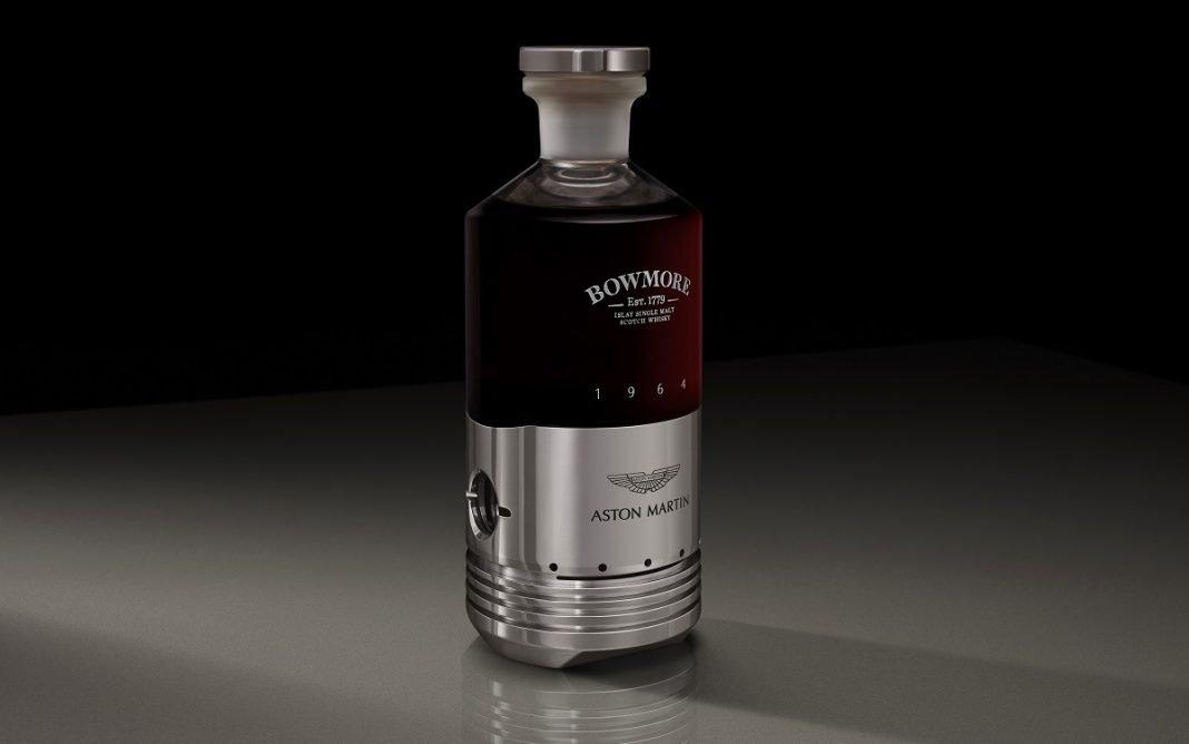 Botella del whisky Aston Martin Bowmore DB5