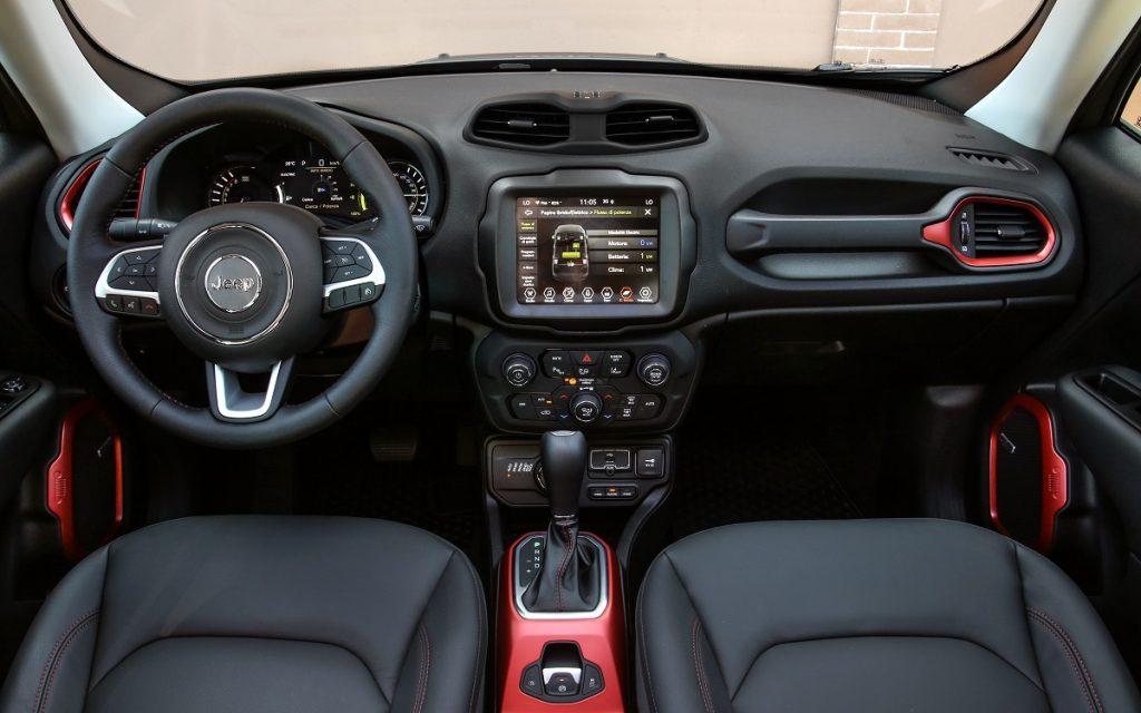 Interior del Jeep Renegade 4xe
