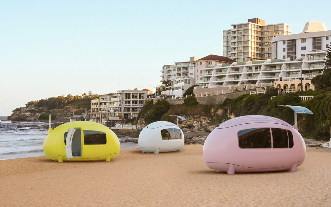 Space lateral caravanas Ecocapsule Nice & Wise