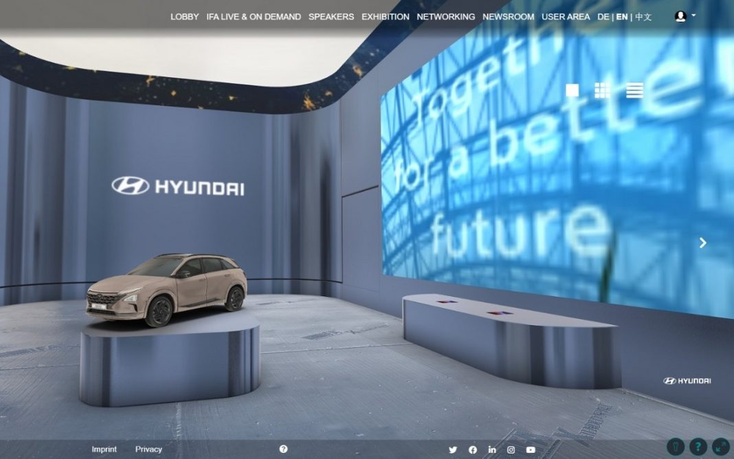 Stand virtual de Hyundai en IFA 2020