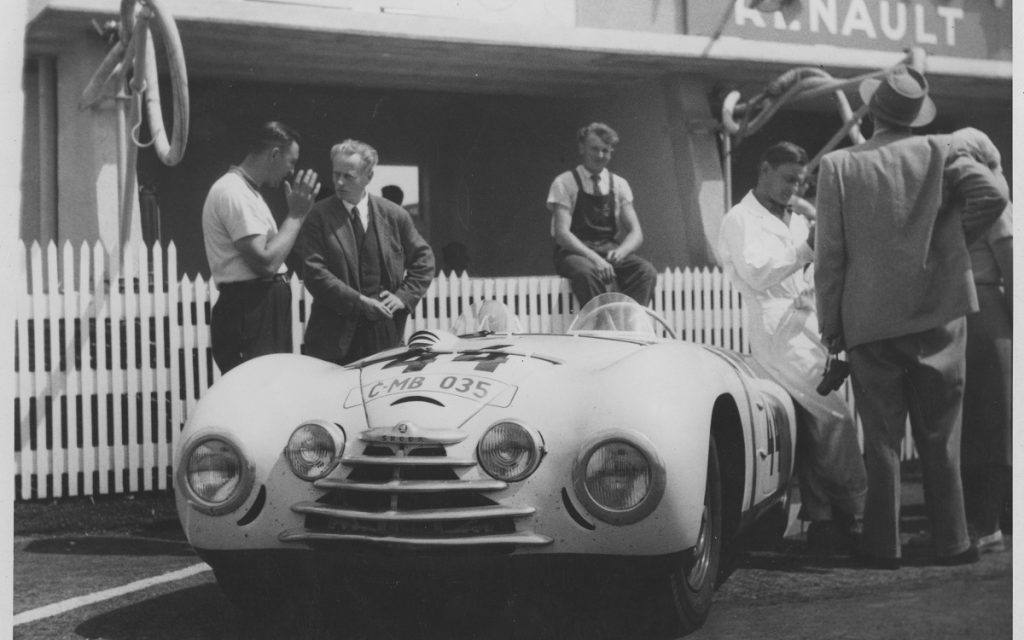 El Skoda 1101 Sport antes de la salida en Le Mans