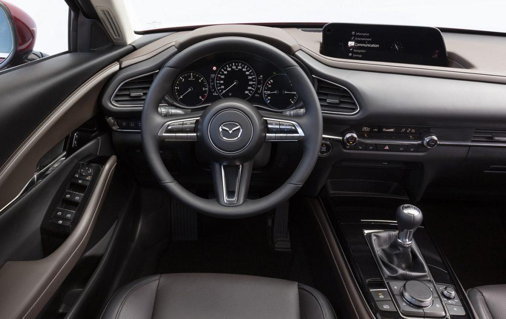 Imagen interior del Mazda CX-30