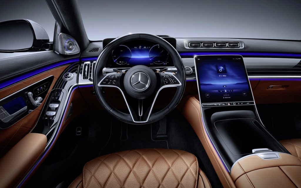Imagen de un Mercedes Clase S 2021 por dentro