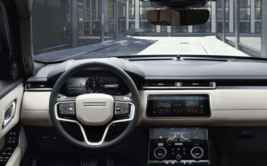 Imagen interior del Range Rover Velar