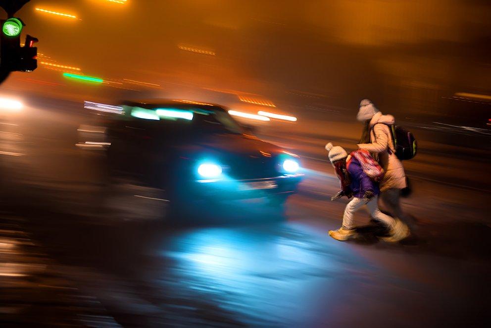 Imagen de una Calle a Oscuras