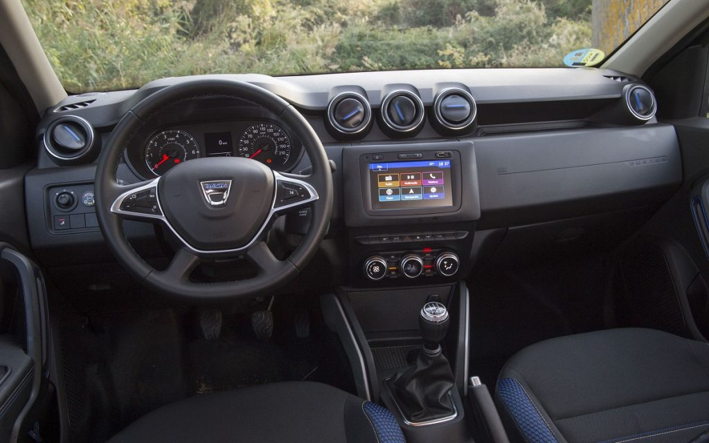 Interior del Dacia Duster GLP